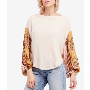 Free People Blossom Sleeve Thermal Top xs